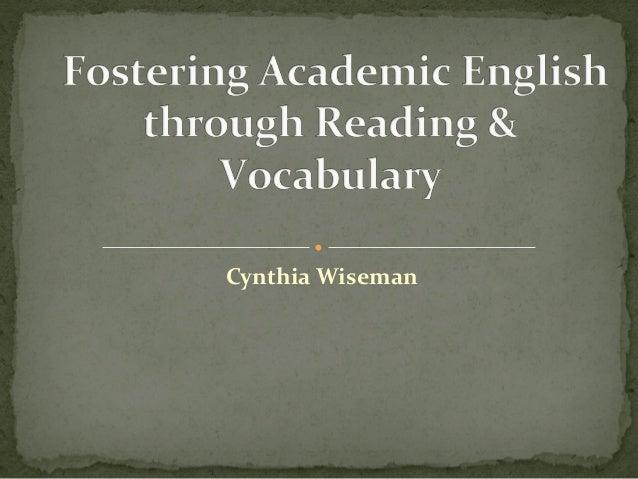 Reading vocabulary Wiseman