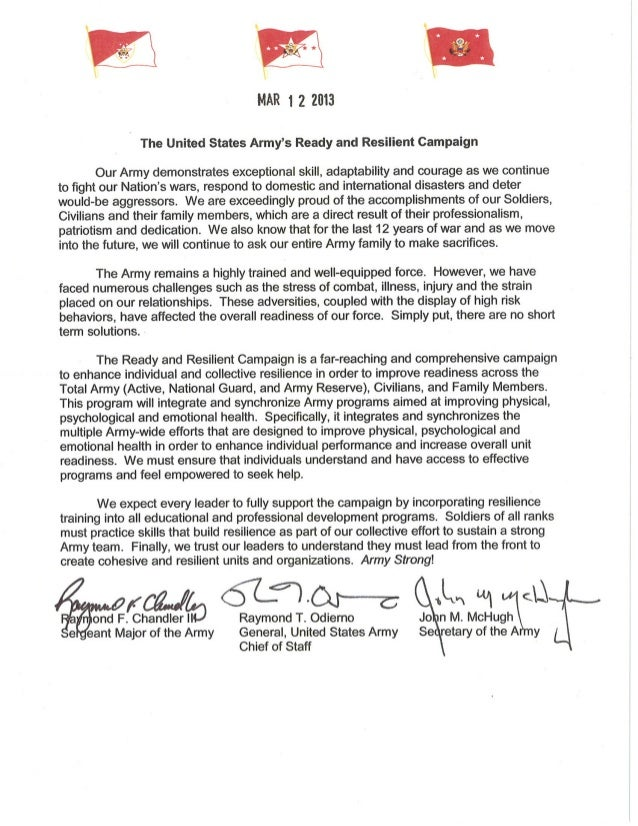 Ready and Resilient Campaign Tri-sign Letter