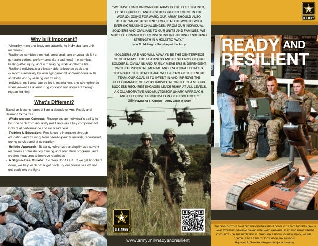 Ready and Resilient Program - Civilian