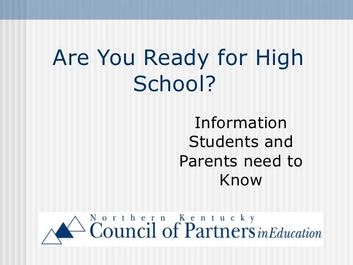 Ready for high school
