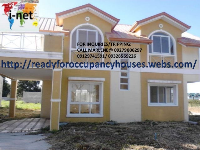 Ready for occupancy single detached subd complete amenities