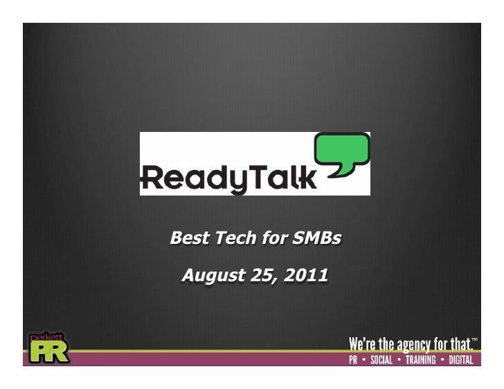 Best Tech for SMBs August 25, 2011