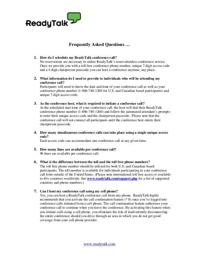ReadyTalk FAQs