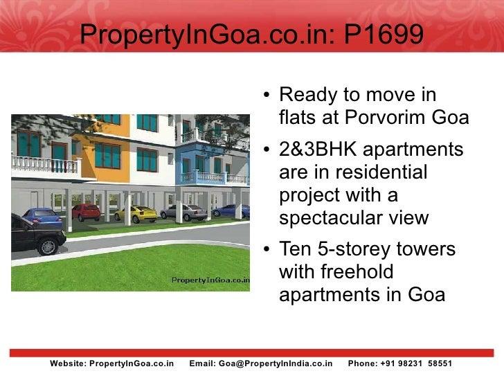 Ready to move in flats at porvorim goa  - PropertyInGoa.co.in - P1699