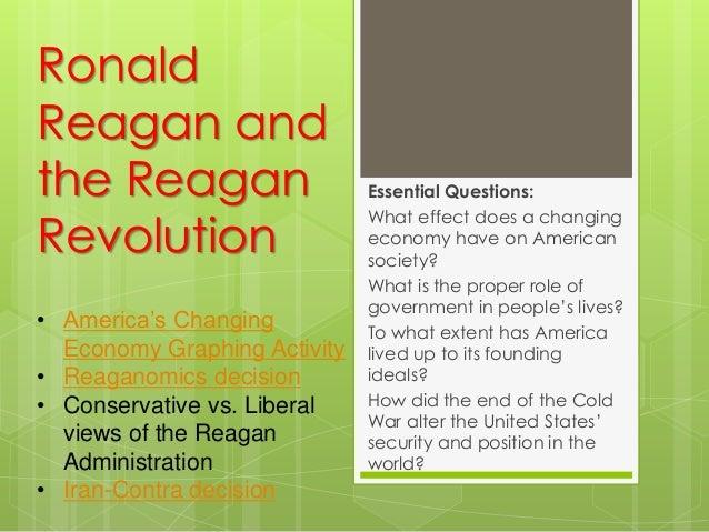 Reagan presidency student version