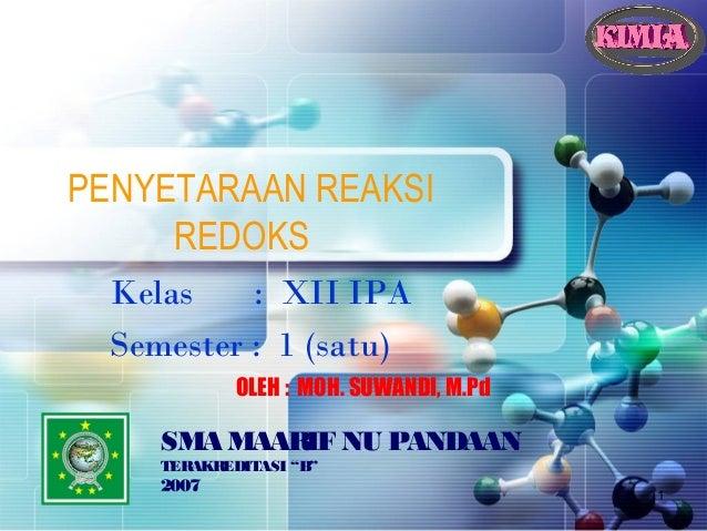 Reaksi redoks-xii swd