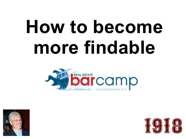 How to become more findable