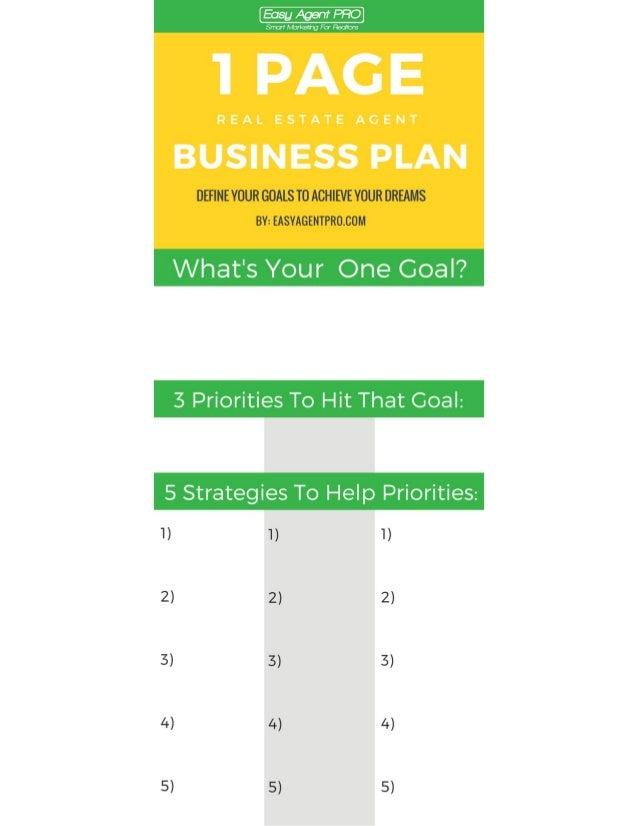 Real estate development business plan pdf