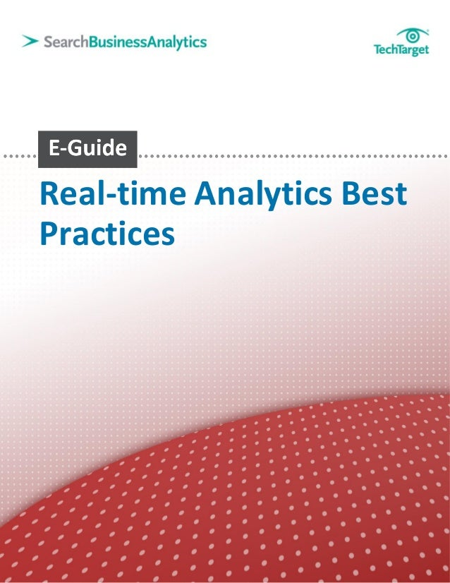 Real-time Analytics BestPractices