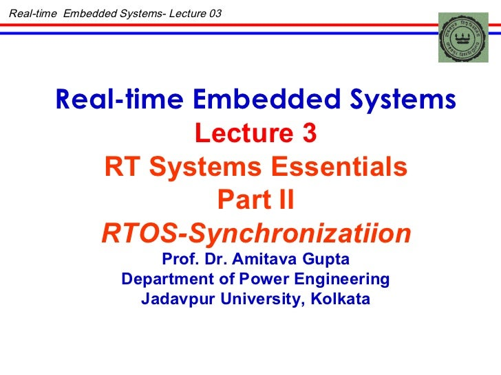 Real time-embedded-system-lec-03