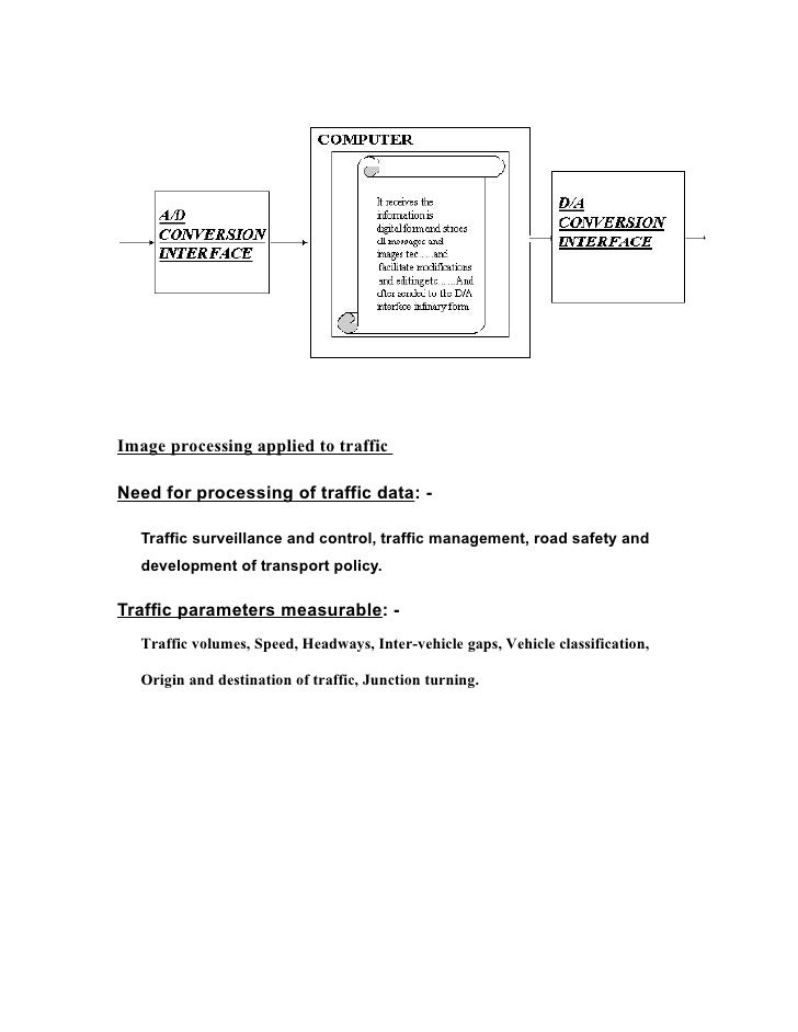image processing for traffic queue control Traffic queue length measurement using an image processing sensor as social economic activities grow, an advanced traffic control system corresponding to the changes of road traffic circumstances becomes an urgent matter.