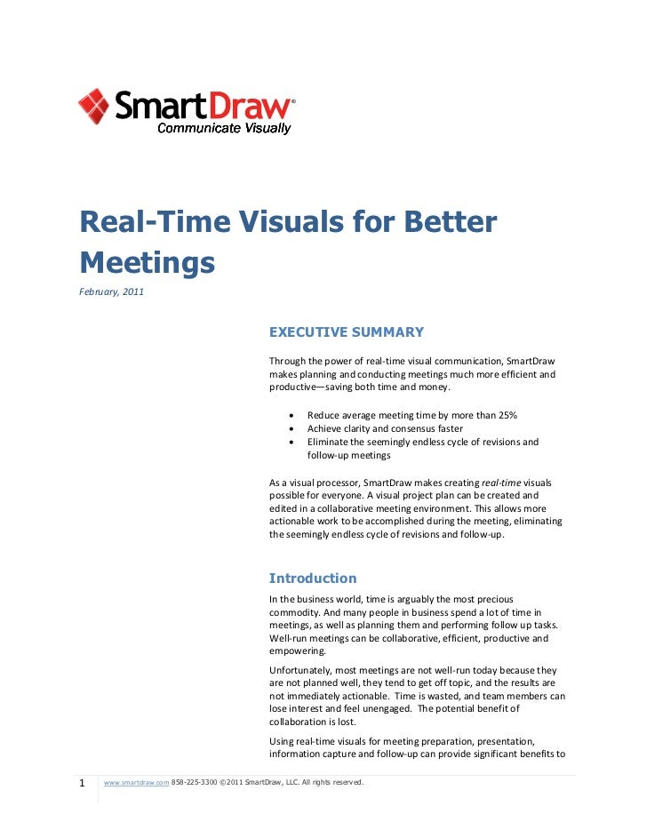 Real-Time Visuals for BetterMeetingsFebruary, 2011                                                   EXECUTIVE SUMMARY    ...