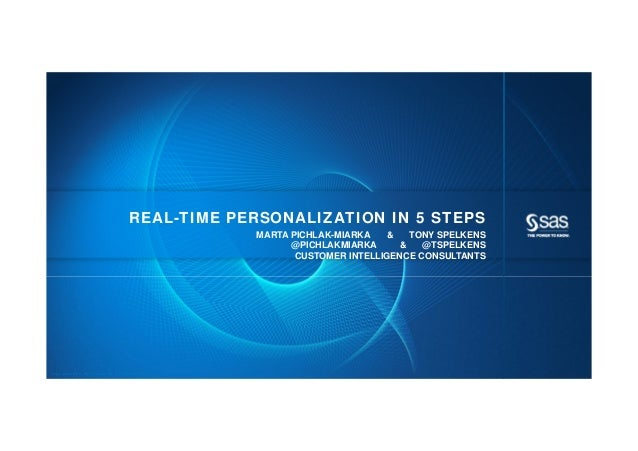 REAL-TIME PERSONALIZATION IN 5 STEPS                                                            MARTA PICHLAK-MIARKA    & ...