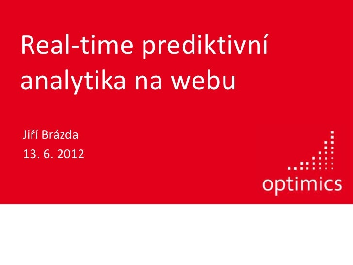 Real-time prediktivni analytika na webu
