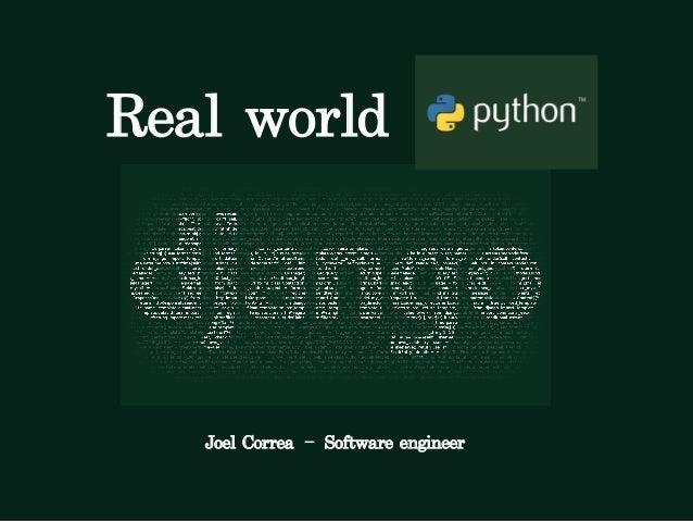 Real world Python+django