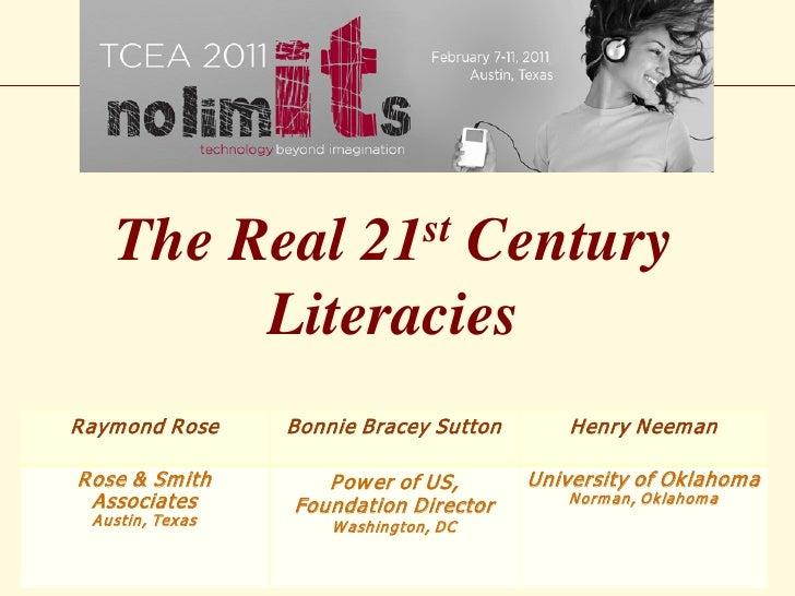The Real     Century 21 st          LiteraciesR aym ond R ose    Bonnie Bracey Sutton       Henry N eem anR ose & Sm ith  ...
