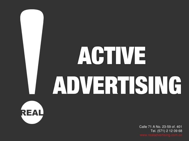 Real Advertising - Active presentación