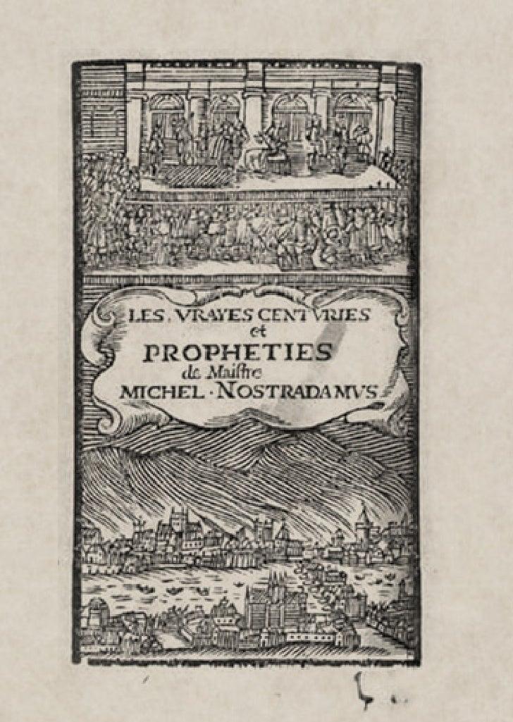 The Real Centurias of Master Michel Nostradamus
