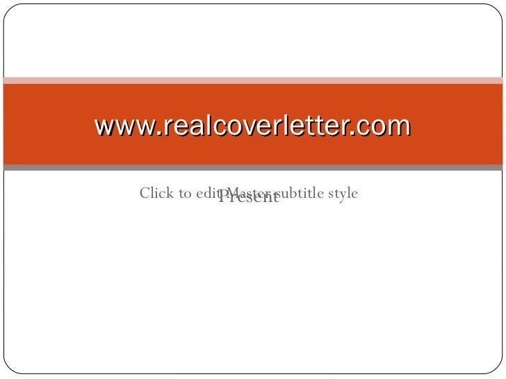 realcoverletter.com