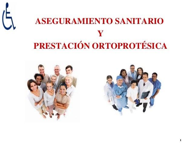ASEGURAMIENTO SANITARIO            YPRESTACIÓN ORTOPROTÉSICA                           1