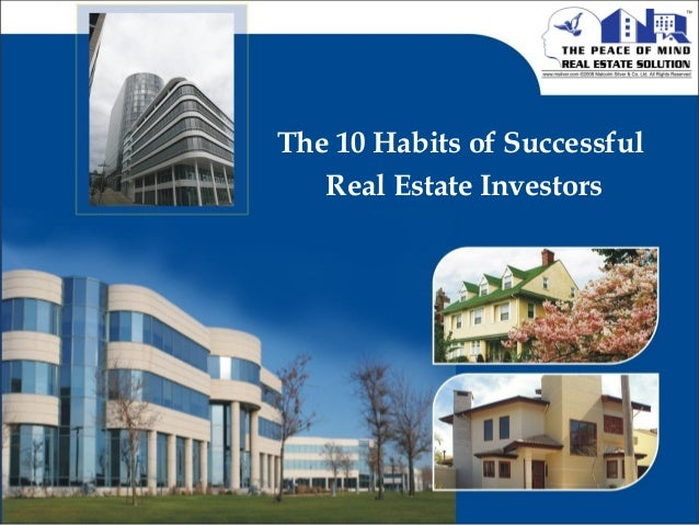 The 10 Habits of Successful Real Estate Investors