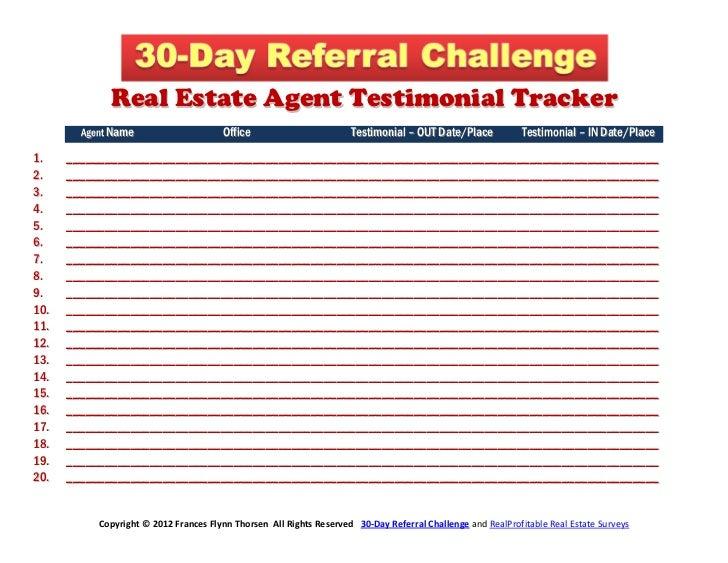 Real Estate Agent Testimonial Tracker        Agent Name                     Office                        Testimonial – OU...