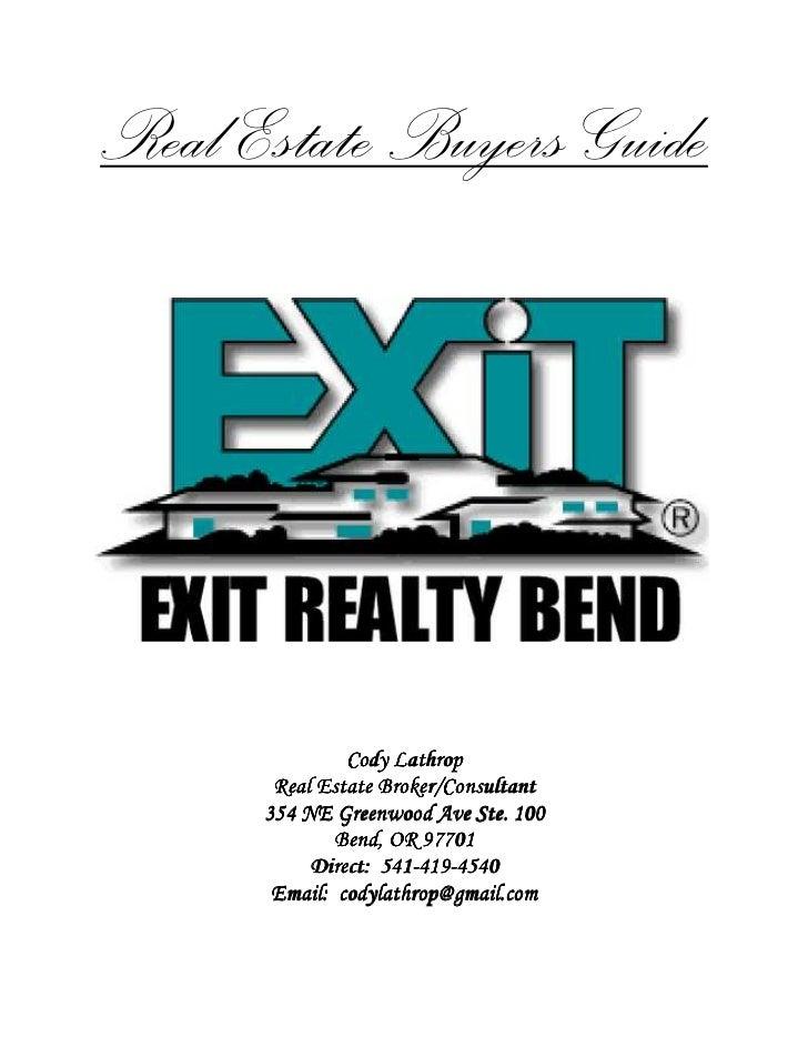 Bend Oregon Central Oregon Real Estate Buyer's Guide
