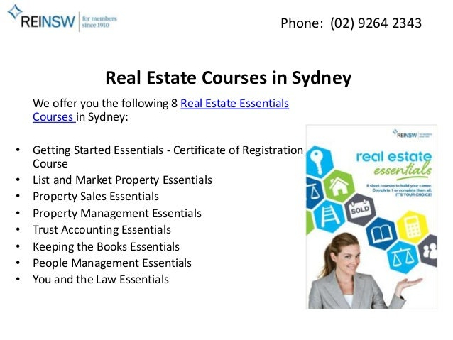Real Estate accounting courses sydney