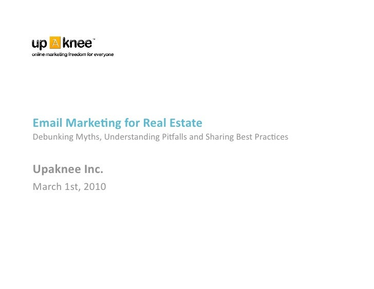 RETechTO Meetup - March 1, 2010 - Real Estate Email Marketing