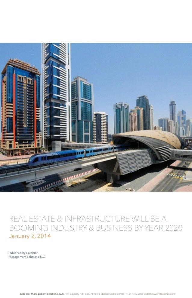 Published by Excelsior Manag. Solutions, LLC Real estate & infrastructure boom 2020