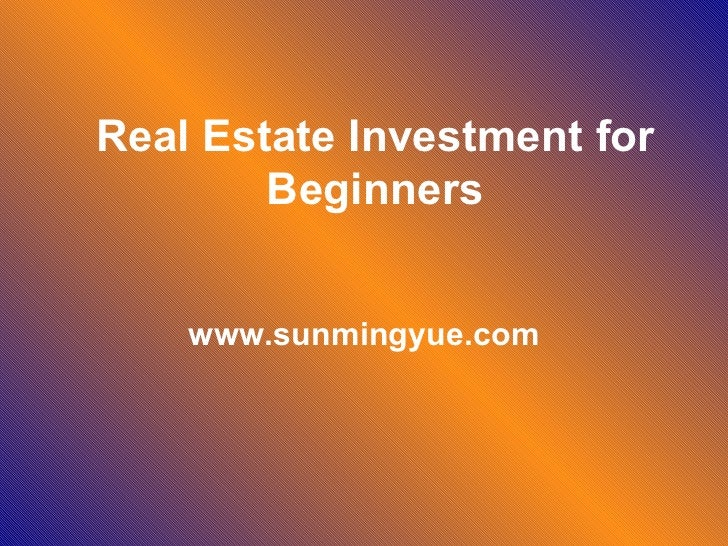 Real estate investment for beginners.ppt22