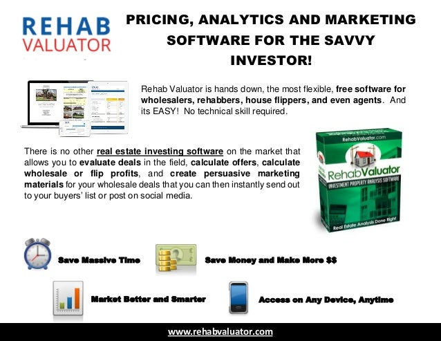 Real Estate Investor Software by Rehab Valuator