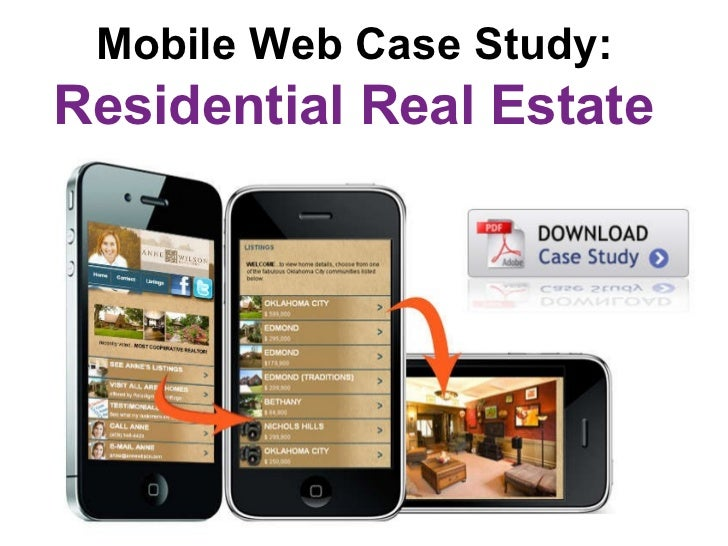 Mobile Web Case Study:   Residential Real Estate