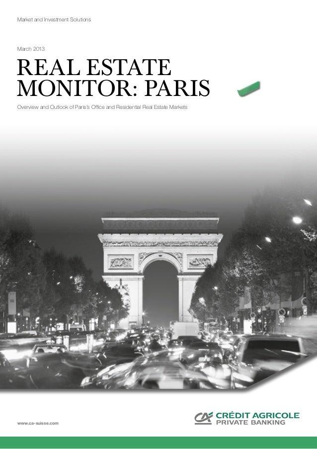 Real estate monitor paris 032013