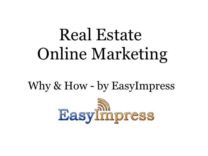 Online Marketing for Real Estate