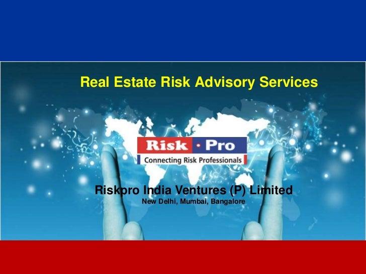 Real Estate Risk Advisory Brochure