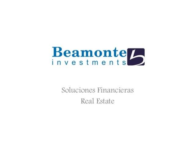 Soluciones Financieras Real Estate