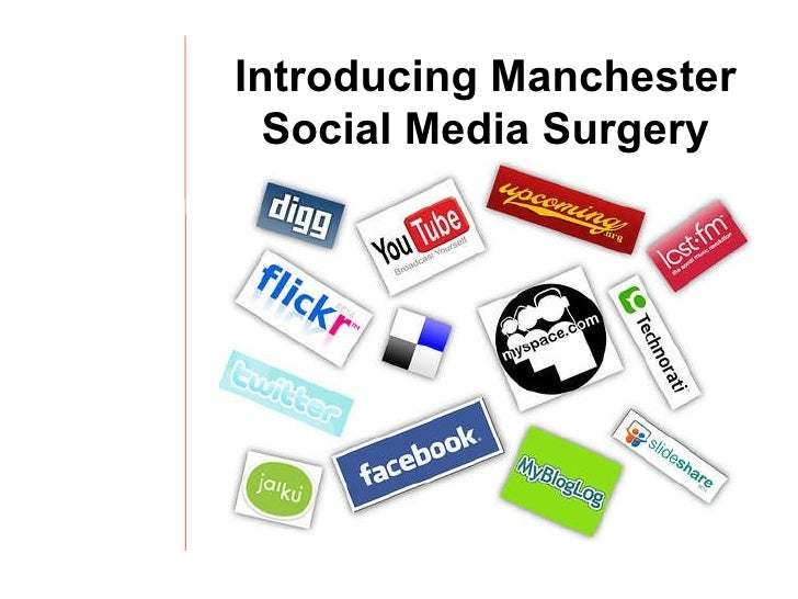 Manchester Social Media Surgery Events: an Introduction