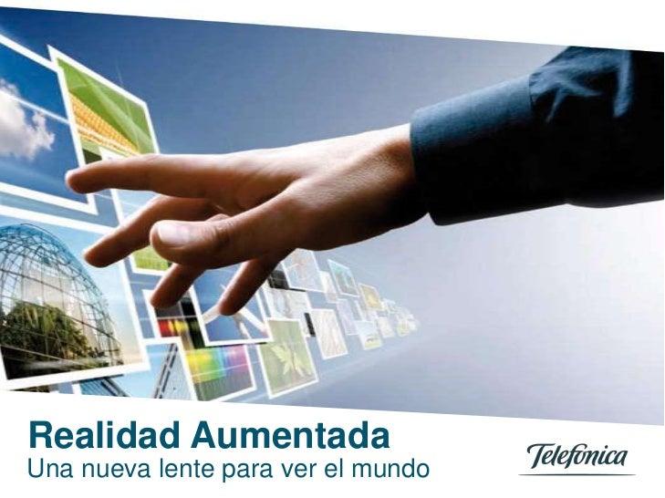 Realidad Aumentada0Telefónica Servicios Audiovisuales S.A. / Telefónica España S.A.Una nueva lente para ver el mundoTítulo...