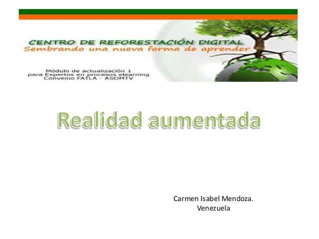 Carmen Isabel Mendoza. Venezuela