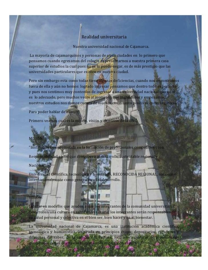 -733425-335915<br />Realidad universitaria <br />                                                 Nuestra universidad naci...