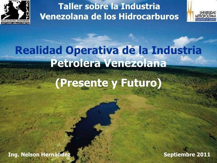 Taller sobre la Industria Venezolana de los Hidrocarburos<br />Realidad Operativa de la Industria Petrolera Venezolana<br ...
