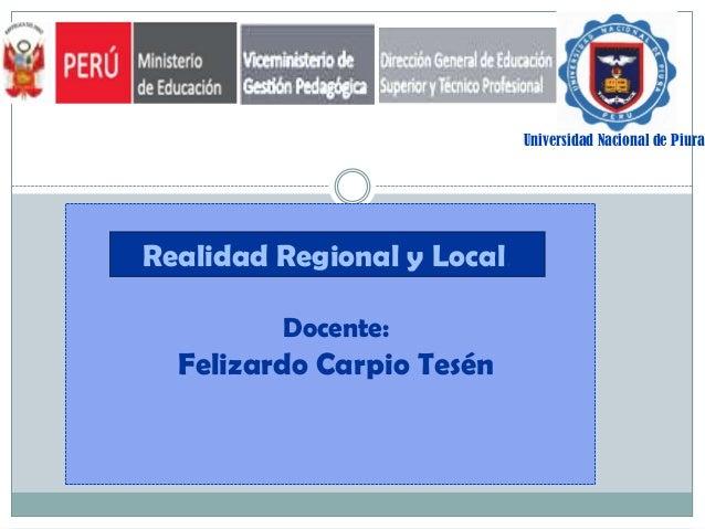 Realidad regional y local