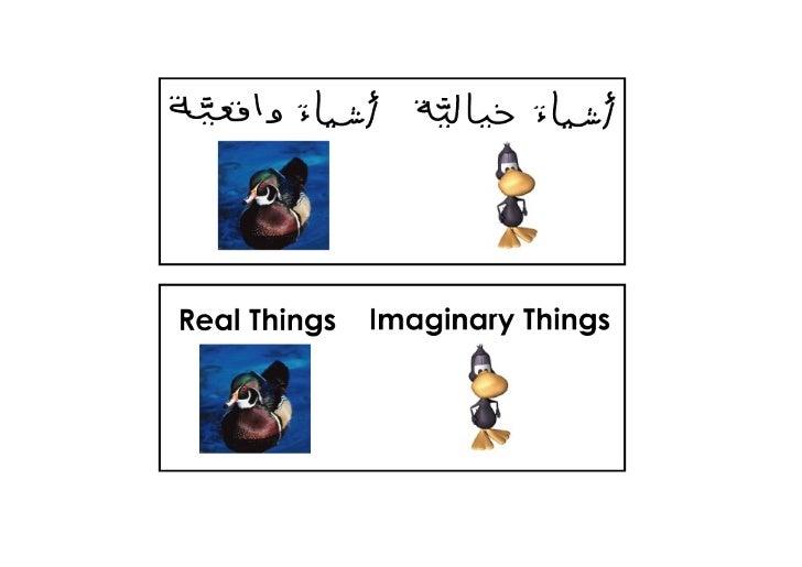 Real & imaginary things c