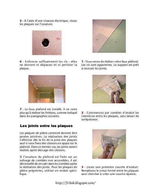 Realiser un faux plafond for Fabriquer un faux plafond