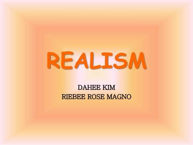 REALISM DAHEE KIM RIEBEE ROSE MAGNO
