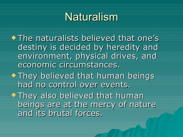 naturalist essays In the first part of this essay augustine discusses what naturalism entails for one's kirby explains what naturalism means to him and why he is a naturalist.