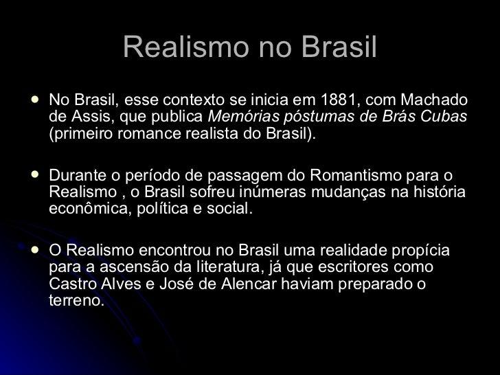 realismo em portugal e no brasil contexto historico
