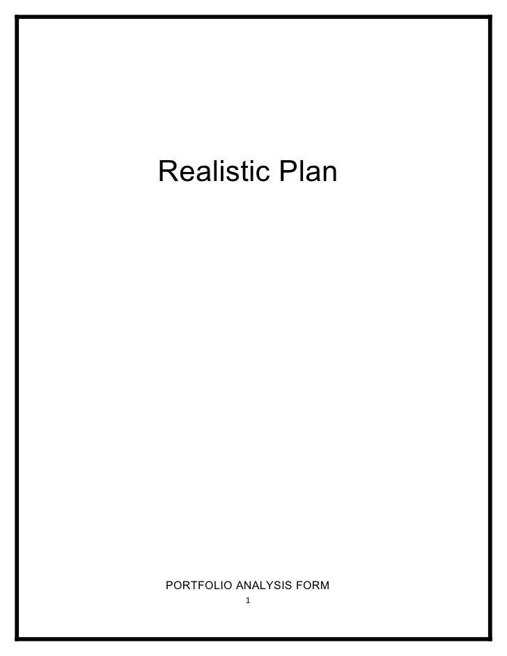Realistic Plan Assessment