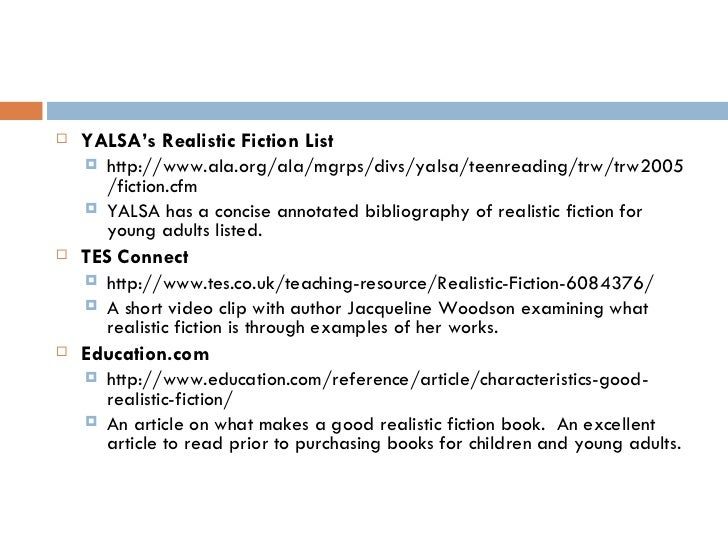 Realistic Fiction Story Realistic Fiction List